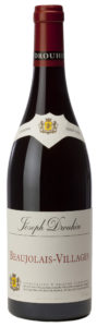 bottle of Beaujolais-Villages Red wine