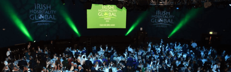 Attendees of the Irish Hospitality Global Awards 2019 enjoying their dinner